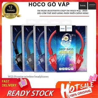 NowShip Tai nghe hay Bluetooth chụp tai Hoco W25 có micro Cho Điện Thoại iPhone Samsung Huawei Xiaomi Oppo IPad... thumbnail