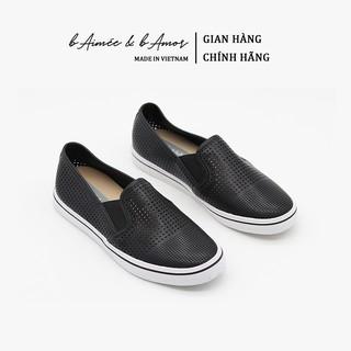 Giày Lười Nữ Slip-on bAimée & bAmor Đế Bằng Viền Kẻ Da mềm Dáng Loafer Culaze Thời Trang Công Sở Cao Cấp Hàn Quốc MS0975 thumbnail