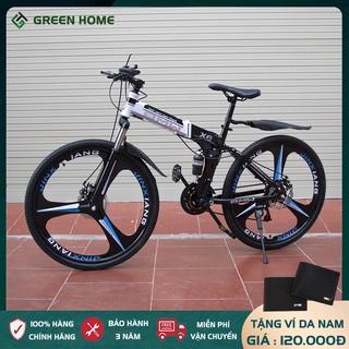 Xe đạp thể thao BMW X6 gấp gọn, xe đạp địa hình phanh đĩa cơ học 7 cấp độ và giảm sóc thủy lực - Bảo hành 2 năm thumbnail