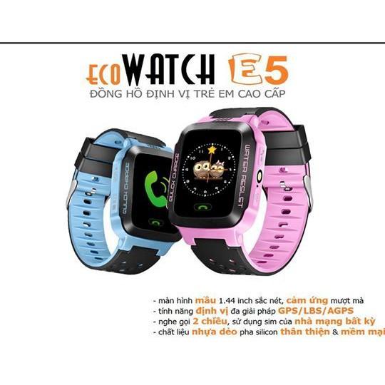 Đồng hồ định vị ecoWATCH E5 cho bé