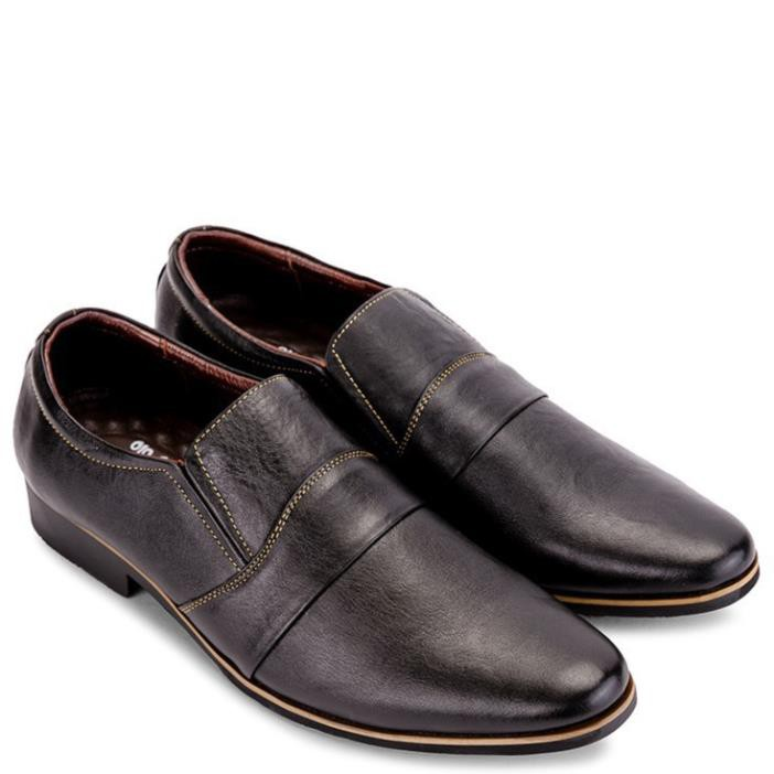 [Sale 3/3]Giày Tây Nam Da Bò SUNPOLO Đen Nâu - SUS249DN -pi9