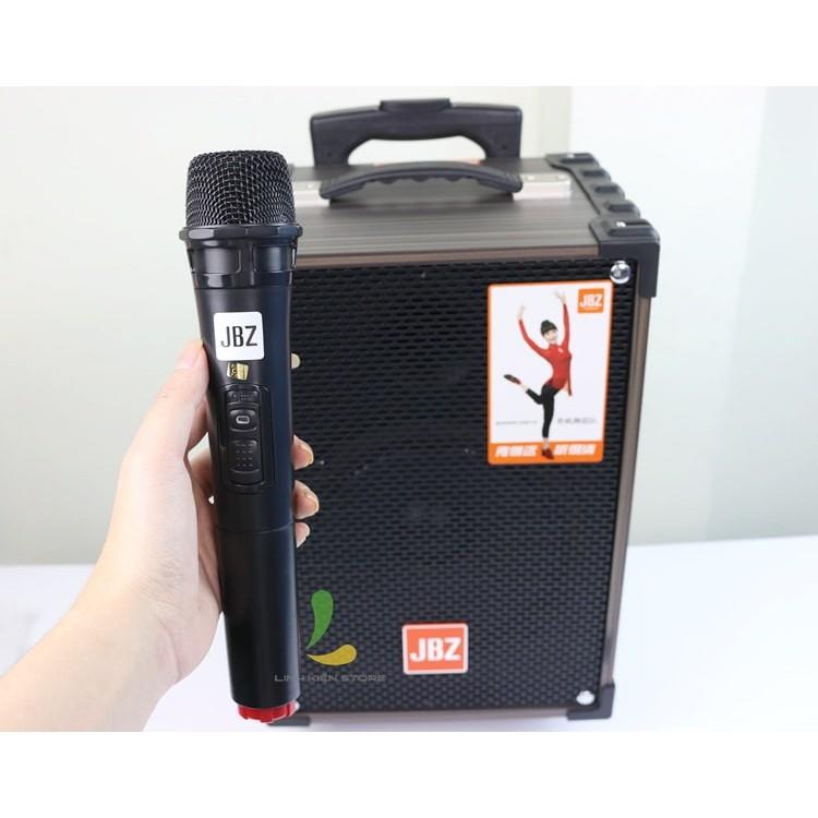 LOA KÉO KARAOKE JBZ NE108 tặng 1 micro- Loa kẹo kéo di động chính hãng dòng loa bass 2,5 tấc