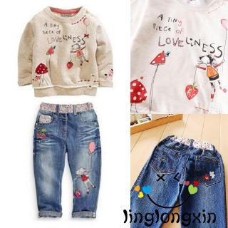 ❥A-❥-Fashion Kids Baby Girls Sets Sweater + Trousers