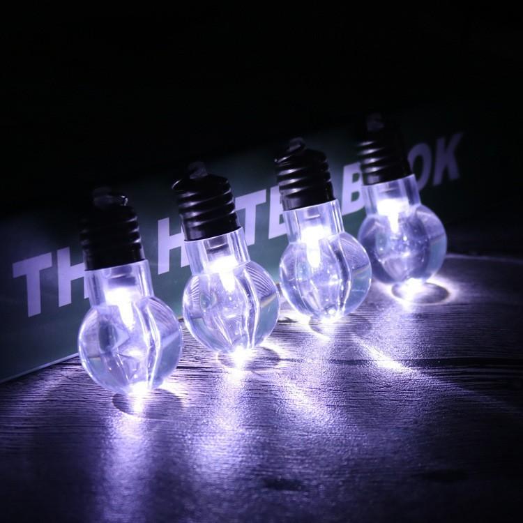 LED Illuminated Finger Lamp Mini Nightlight Light Bulb Key Chain Children Interactive Toy