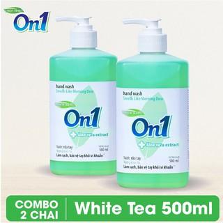 COMBO 2 chai Nước rửa tay sạch khuẩn On1 500ml hương White Tea-0
