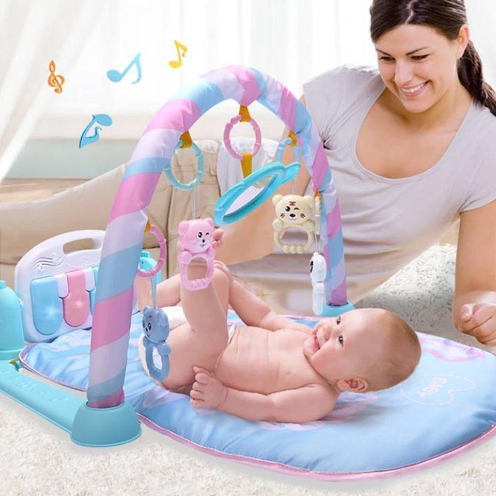 Educational Baby Toy Lighting Newborn Activity Bodybuilding Safe Funny Interactive Gym Music Play Pedal Piano