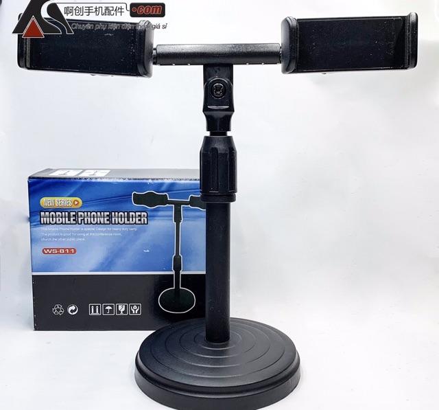 Giá Đỡ Điện Thoại, Giá Kẹp ĐT Quay Video Livestream, Giá Đỡ ĐT Để Bàn Tự Điều Chỉnh Cao Thấp, Giá Kẹp ĐT Hát Livestream