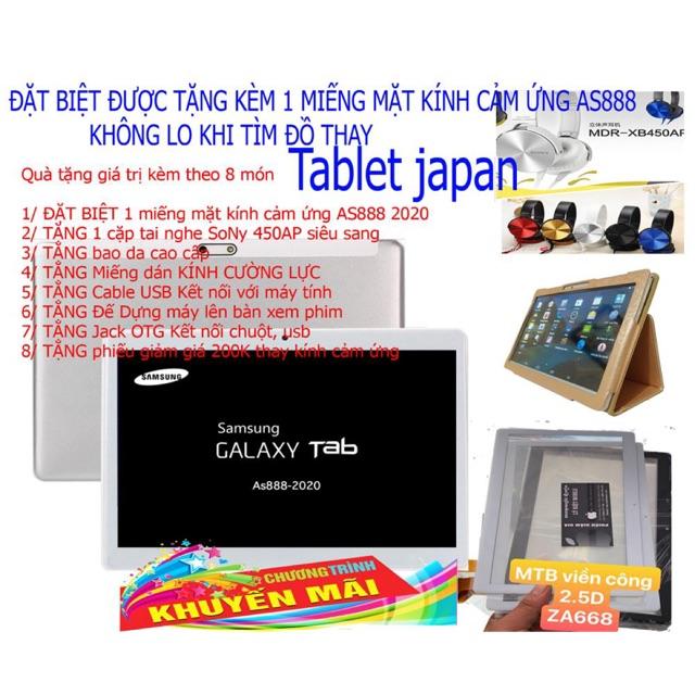 Máy tính bảng Nhật Bản bản 2020 As888 tặng kèm một màn hình cảm ứng