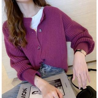 Cardigan Jacket Knitted Cardigan Korean Style Loose Short Long Sleeve Western Style All-match Sweater Jacket