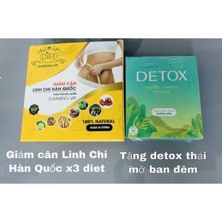 Giảm Cân Linh Chi Hàn Quốc Hộp 30 Viên Tặng Kèm 15 Viên Detox Mẫu Mới [ Phiên Bản Mạnh] thumbnail