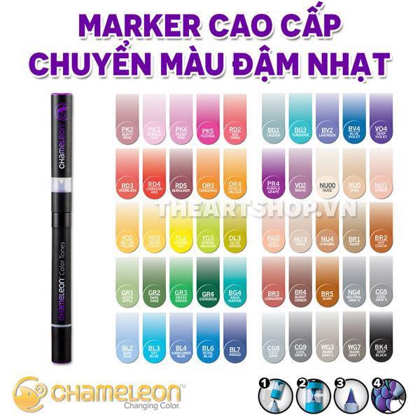(P1) Bút marker CHAMELEON PENS cao cấp - Bán lẻ