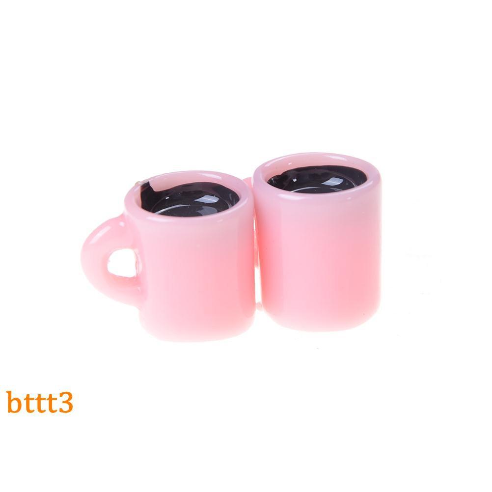 set 2 cốc nước mini tỉ lệ 1:12 cho bé chơi đồ hàng