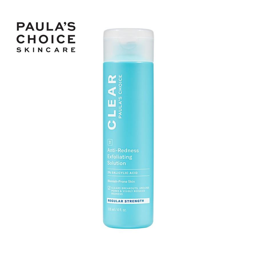 Dung dịch ngừa mụn, ban đỏ Paula's Choice Clear Regular Strength Anti-Redness Exfoliating Solution 118ml Mã: 6200