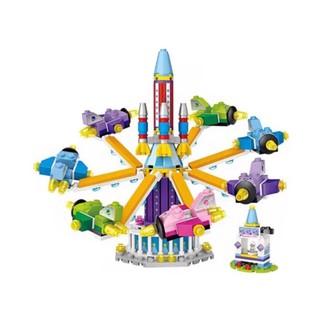 Bộ đồ chơi lắp ráp trẻ em Vòng xoay máy bay Mocmini LOZ 1719 (361 chi tiết)