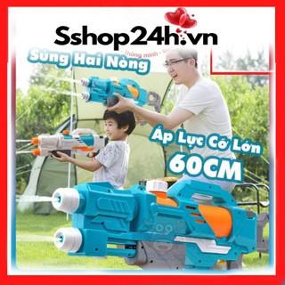 Súng Bắn Nước 2 Nòng Cỡ Lớn, Súng Nước 2 Vòi Áp Lực Loại To Bắn Xa - Đồ chơi trẻ em phun nước an toàn cho bé thumbnail