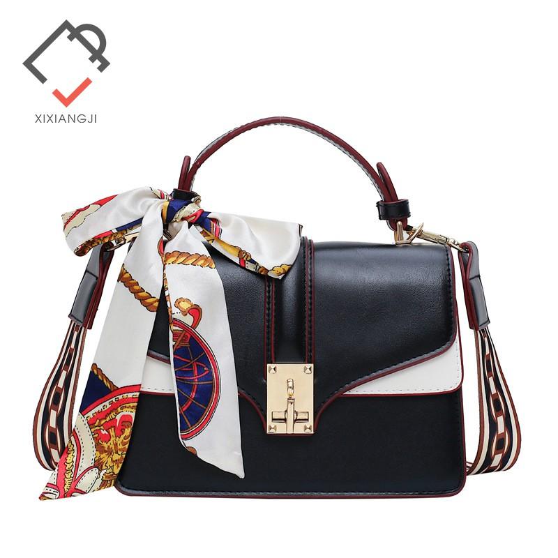 Túi đeo chéo nữ thương hiệu XI XIANG JI phối dây lụa sang chảnh X8859