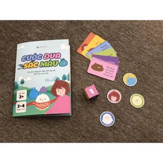 Đồ chơi – Cuộc đua sắc màu – Boardgame Wabooks tương tác giữa bố mẹ và bé – Dành cho lứa tuổi 2-4