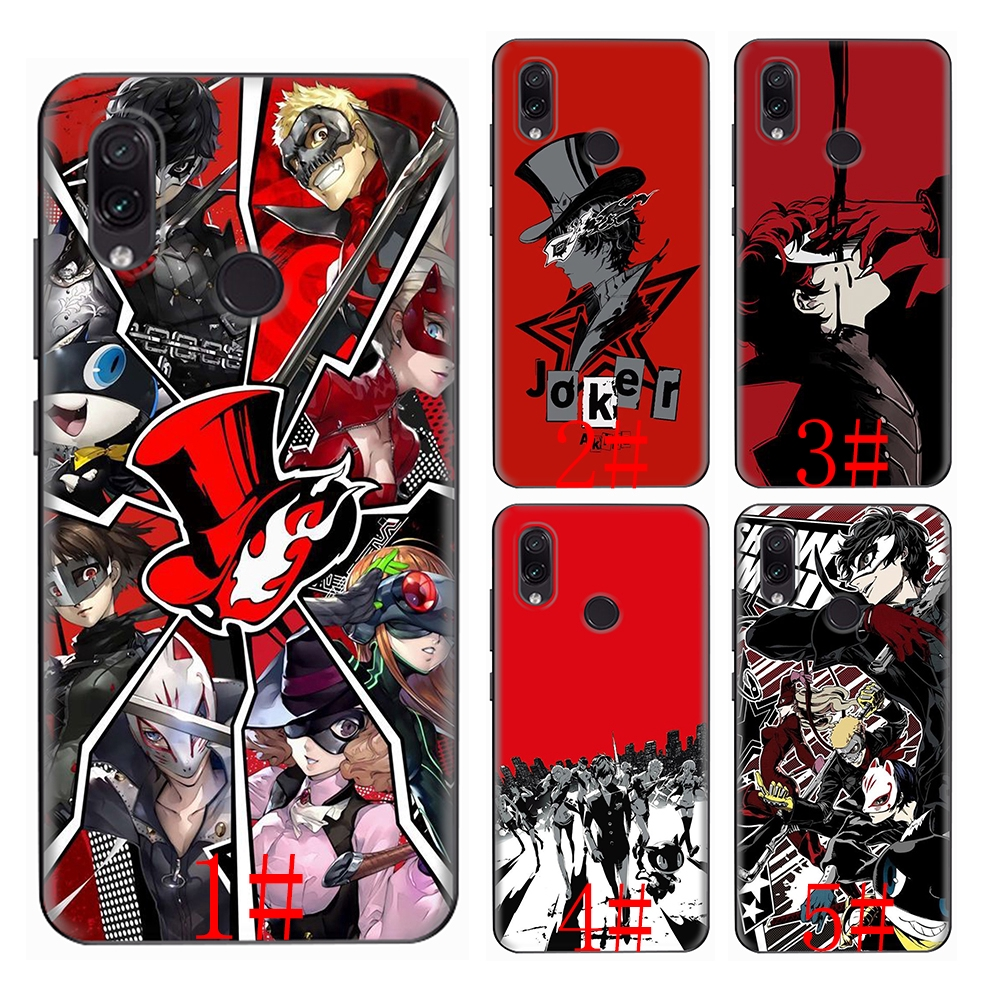 Persona 5 P5 Redmi Note 4A 4X 5 5A 6 6A 7 Plus Pro soft case
