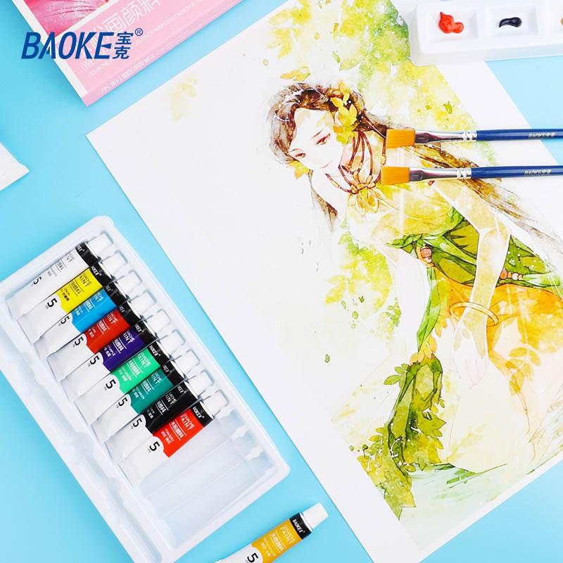 Màu Vẽ Dạng Bột Tuýp BAOKE-WP804