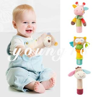 Forever Young Unisex Colorful Birthday Baby Handbells Rattles Baby Hanging Rattle Toys First Senses Bed Bells