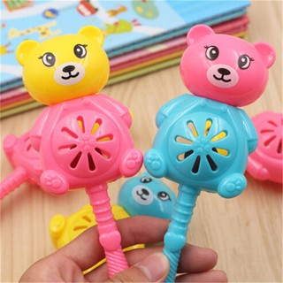 KJ♠ Baby Rattles Toy Intelligence Hand Bear Bell Rattle Funny Educational Toys Gifts