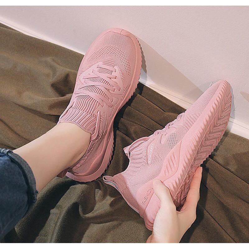 Giày Thể Thao Nữ/😍Freeship Đơn250k⚡Giày Nữ Cổ Chun kiểu dáng thể thao vải mềm siêu thoáng đế alpha