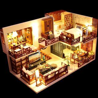 Kèm Mica và keo dán – Mô hình nhà gỗ búp bê Dollhouse DIY – M025A Quiet Time