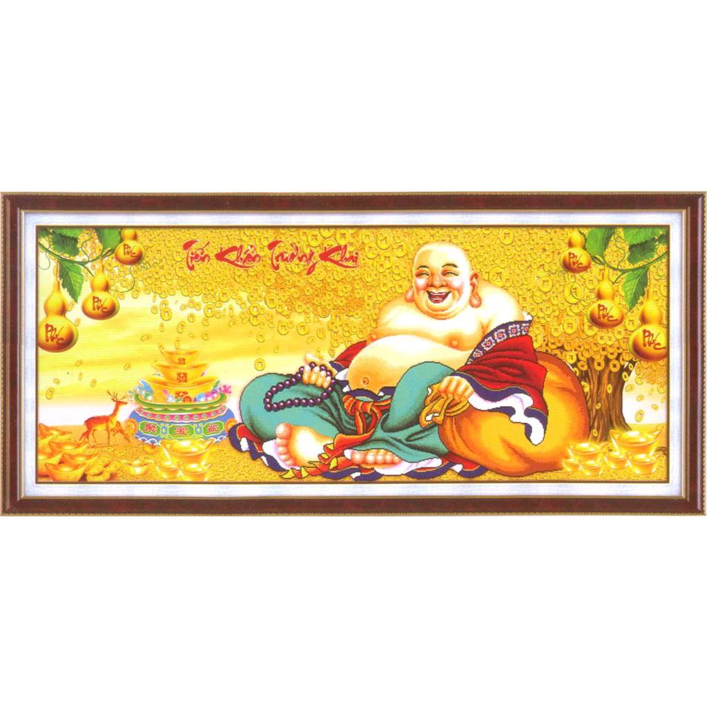 Tranh thêu chữ thập Một Nụ Cười Làm Nở Hoa - Nụ Cười Phật Di Lặc 223081