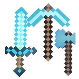 Combo Rìu Kiếm Cúp Minecraft kim cương