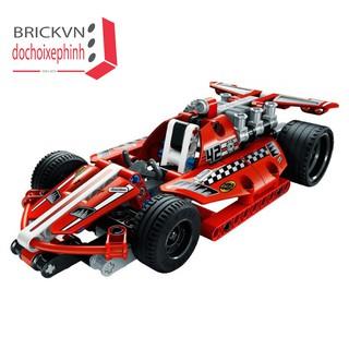 Bộ đồ chơi xếp hình lắp ghep xe đua chạy cót thi đấu 3412