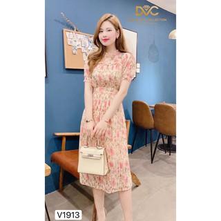 Váy hoa xòe xếp li V1913 - Đẹp Shop DVC (Kèm ảnh thật trải sàn do shop tự chụp) thumbnail