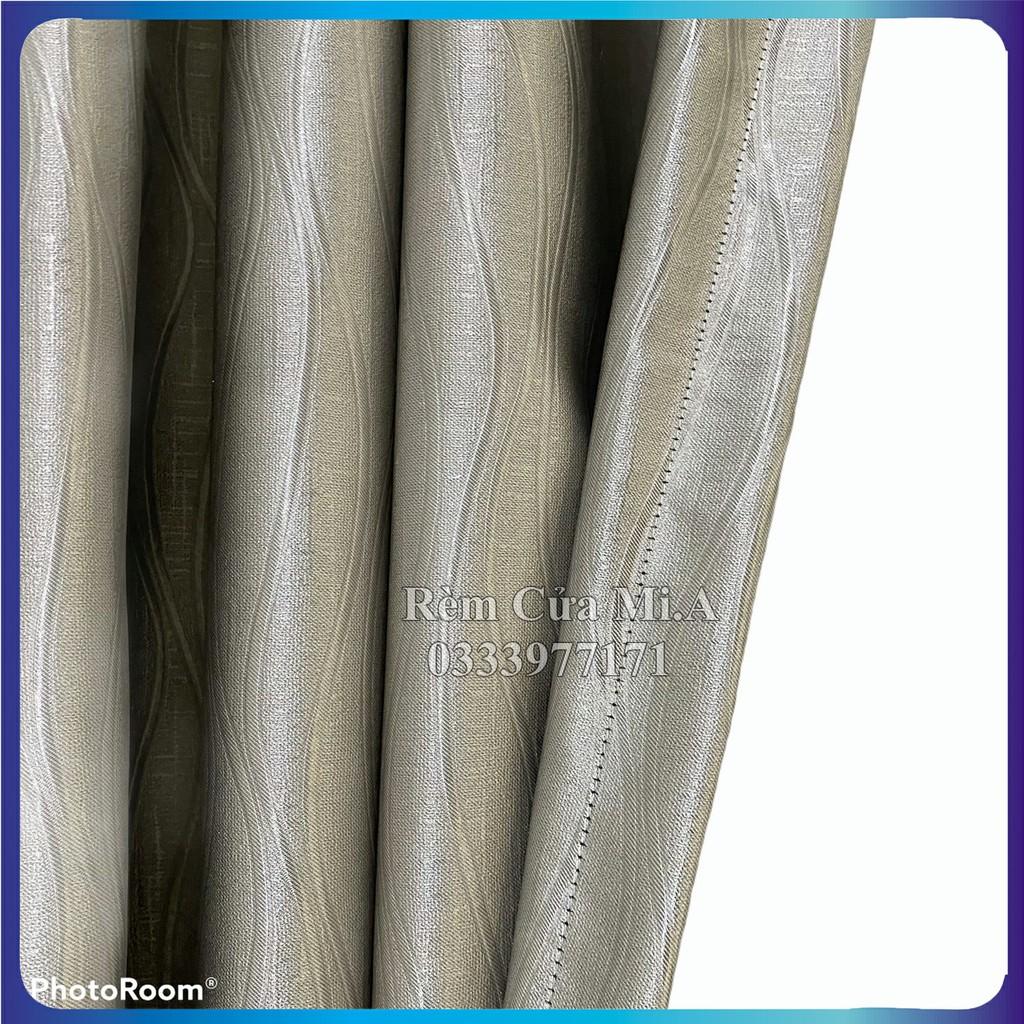 shop rèm cửa, màn cửa màu xám bóng không bám bụi, kích thước tùy chọn, dùng làm rèm cửa chính, rèm cửa sổ, Pt curtains