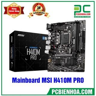 Yêu Thích[Mã ELMSCOIN hoàn 8% xu đơn 500K] Mainboard MSI H410M PRO (Intel H410, Socket 1200, m-ATX, 2 khe RAM DDR4
