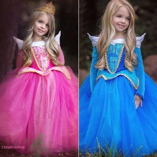Đầm công chúa thiết kế theo phong cách đầm công chúa Aurora thời trang cho bé gái