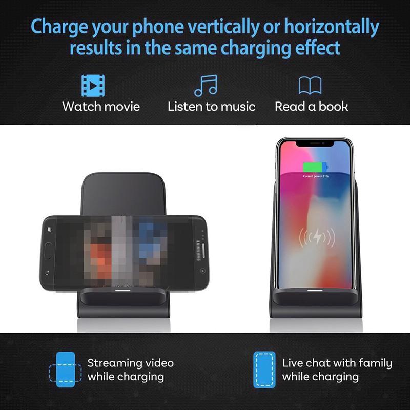 Đế Sạc Nhanh Không Dây 15w Qi Cho Iphone Samsung