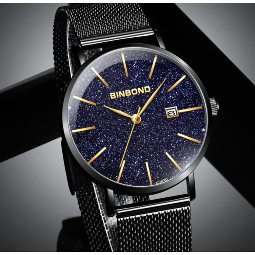 Siêu Chất (CHÍNH HÃNG) Đồng hồ nam chính hãng BINBOND dây thép Titanium cao cấp, Có hộp Hãng. ( Mã BIN0X)