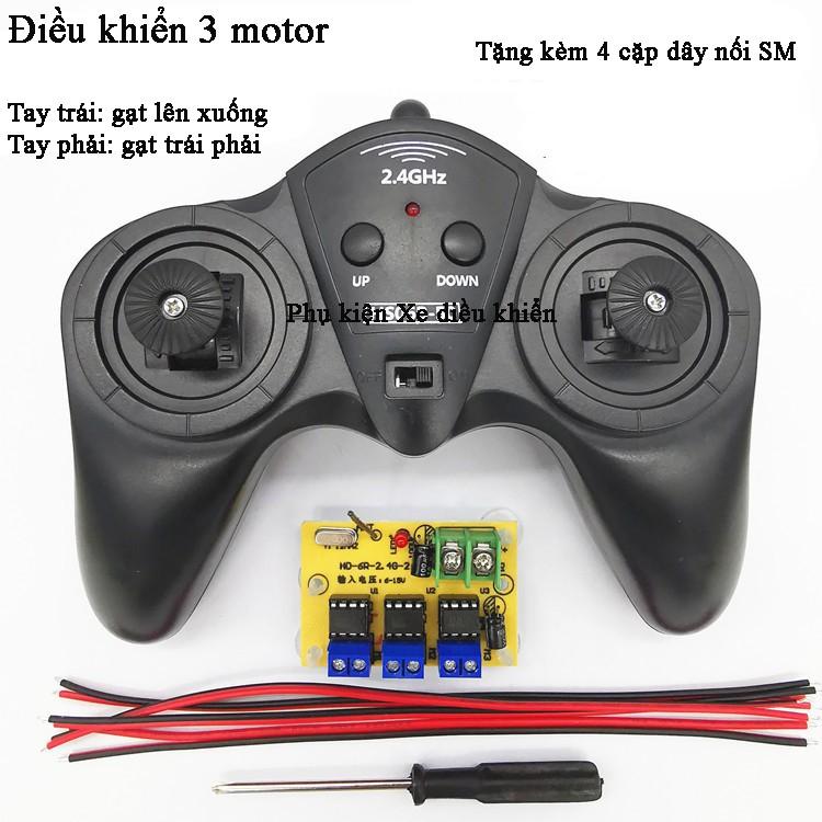 Điều khiển 6 kênh 6-15V 2.4Ghz – DK-5-15V tặng kèm 4 cặp dây SM