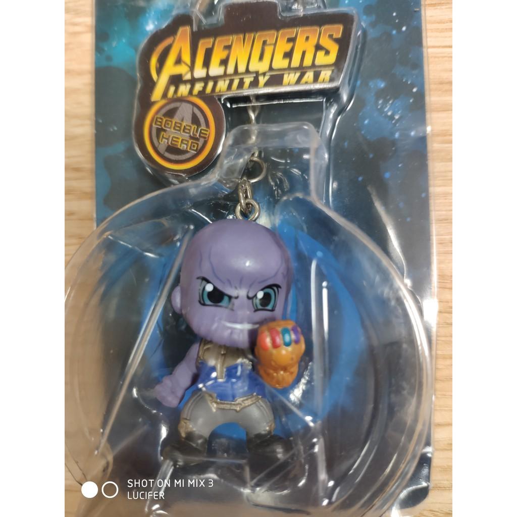 Mô hình, móc khóa Avenger Thanos chibi cổ lò xo