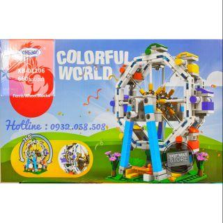Lego Xingbao Đu Quay Công Viên – Có Thể Xoay Vòng Tròn 360 Độ ( 660 Mảnh )