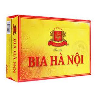 (TPHCM )Thùng bia Hà Nội vàng 24 lon x 330ml
