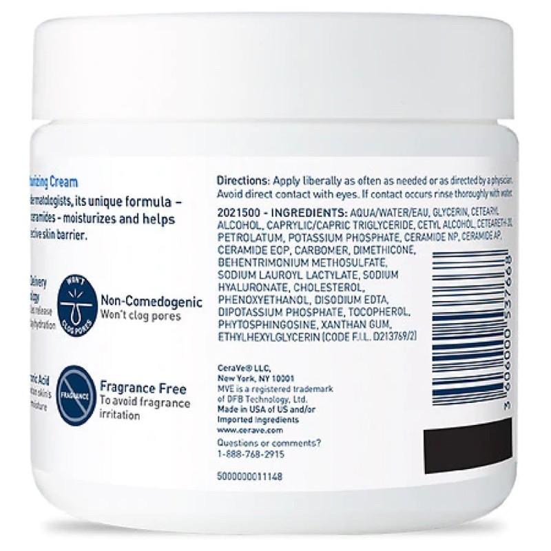 [Hàng Mỹ] Kem Dưỡng Ẩm Cerave Moisturizing Cream