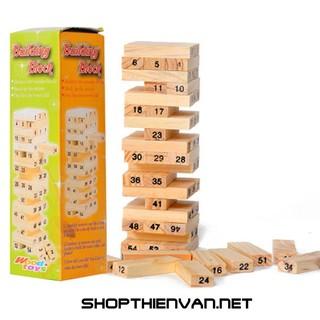 Bộ đồ chơi rút gỗ 54 thanh phát triển tư duy