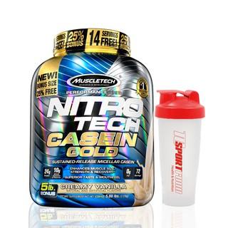 NITRO TECH CASEIN GOLD (5lbs) – Protein trải dài 8h, Phát triển CƠ BẮP