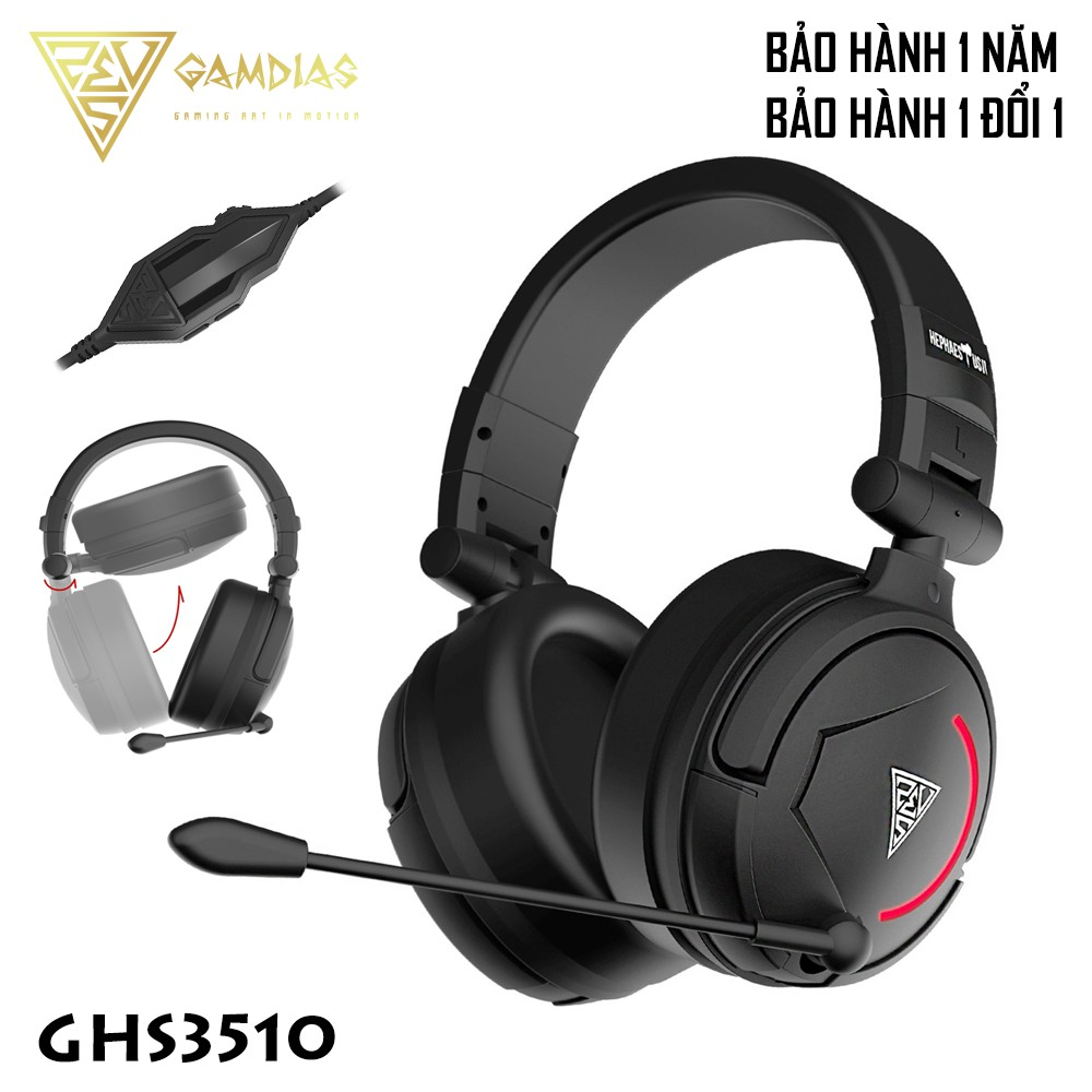 Tai nghe game thủ Gamdias GHS3510 (7.1 Virtual Surround Sound)