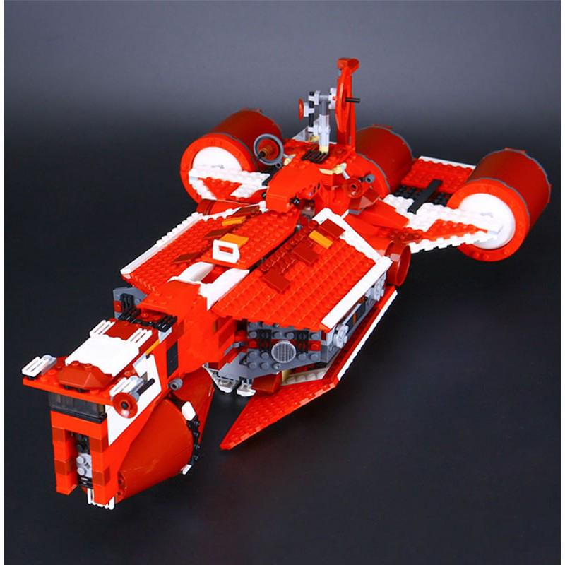 Compatible With 7665 Lepin 05070 Star Plans REPUBLIC CRUISER Fighter Plan