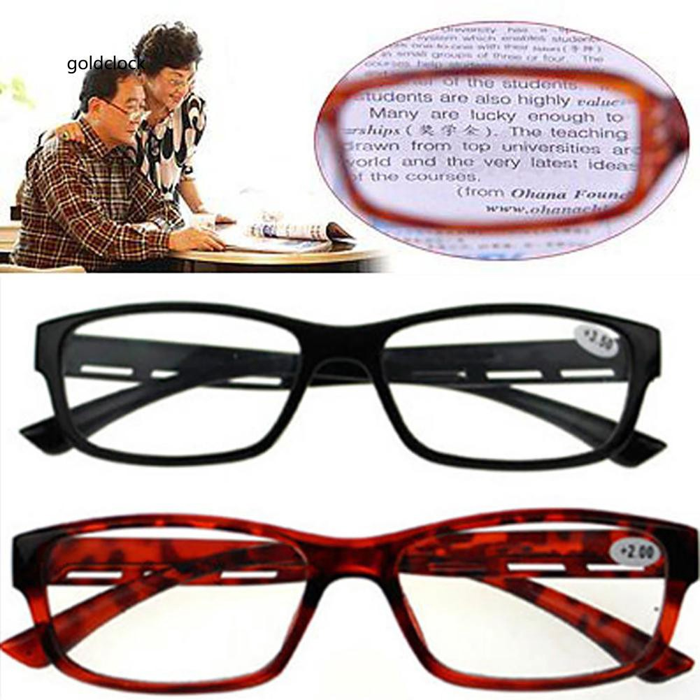 GDCK_Retro Unisex Resin Frame Ultra-light Presbyopia Reading Glasses for Aged People