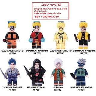 Lego KOPF Minifigures Naruto Sasuke Itachi Jiraiya Kakashi thumbnail
