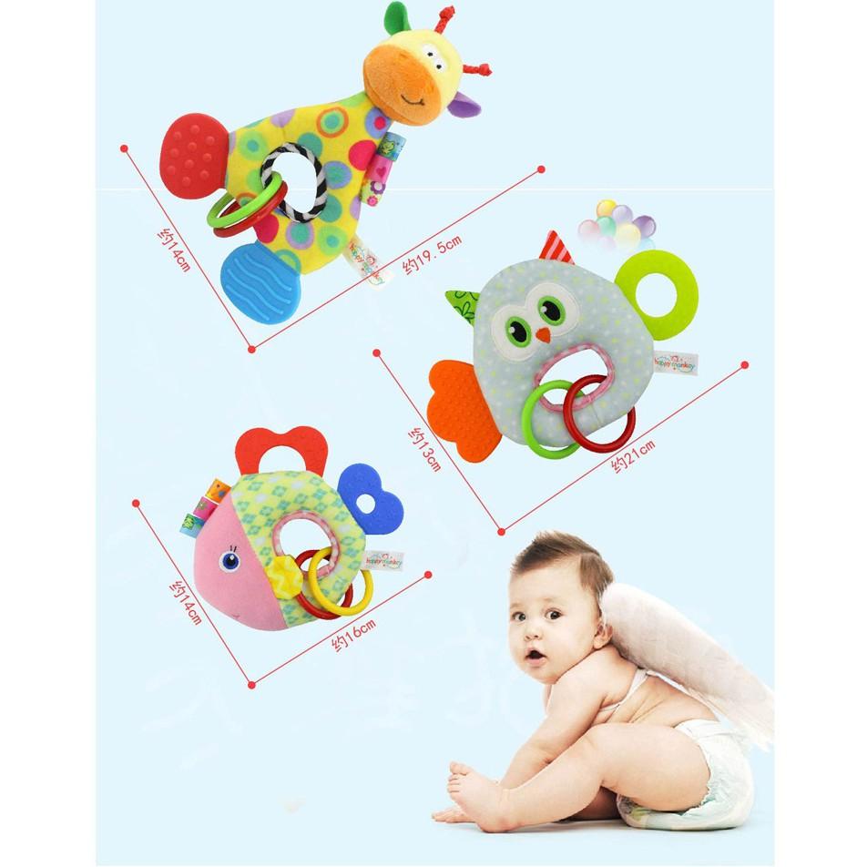 Đồ chơi tập cầm nắm,gặm nướu cho bé (3 tháng-2 tuổi)