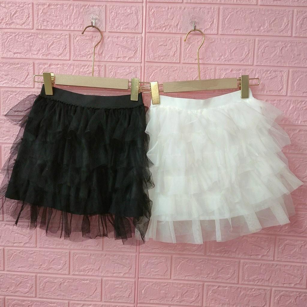 Chân váy lưới tầng có lót trong vải mềm mịn thời trang 2021