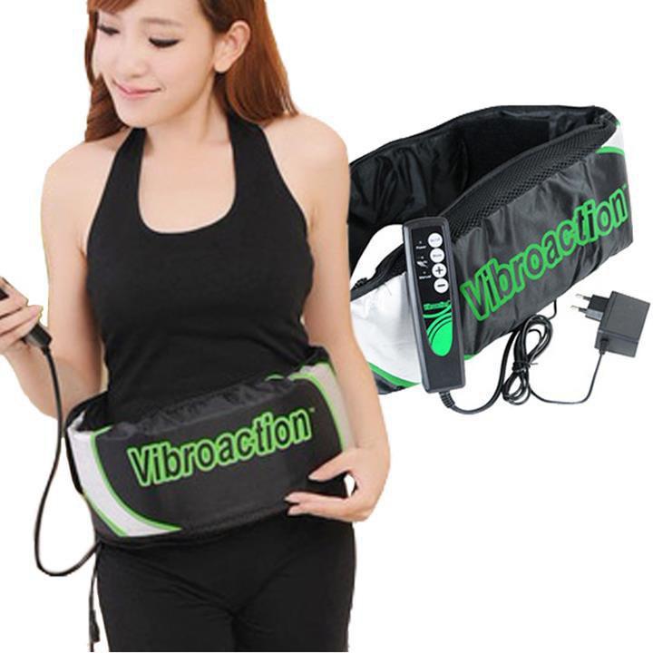 (miễn phí vận chuyển) Đai massage giảm mỡ bụng VibroAction